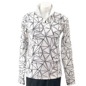 Xersion Performancewear Geo Print Quarterzip Top
